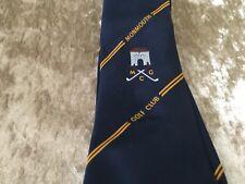 MONMOUTH GOLF CLUB GOLF TIE - BLUE & YELLOW STRIPE DESIGN - T10
