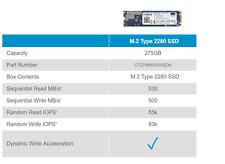 SUMMER SALE - Crucial MX300 275GB M.2 SATA 2280SS SSD ct275mx300ssd4