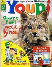 Revue YOUPI * 198 * Lynx Thermomètre Pôle Sud   magazine enfant documentaire