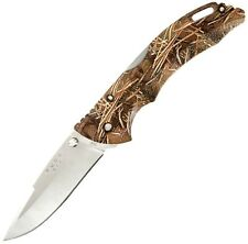 Buck Bantam Satin Finish 420HC Steel Drop Point Blade Muddy Water Camo 0286CMS32