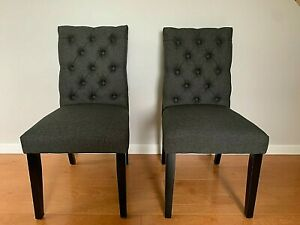 Arcade Tufted Upholstered  Dining Chair Fabric Dark  Gray EEI-2231-GRA