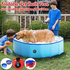 Portable Pet Bath Pool Paddling Swimming Pool Water Tub PVC 30x10/60x20/100x30cm