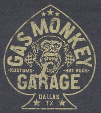 GAS MONKEY GARAGE T-shirt ACES HIGH Hot Rods Tee Adult 4XL Charcoal Gray New