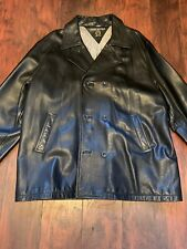vintage 90's tommy hilfiger Leather Peacoat