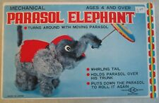 Vintage Wind Up Mechanical Parasol Elephant In Box No. 5027 Tested Working