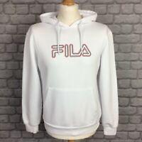 FILA MENS UK S WHITE 3D LOGO HOODIE HOODED TOP HOODY RRP £55 -