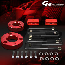 """FOR 2007-2017 CHEVY SILVERADO/GMC SIERRA 2.5""""FRONT/2""""REAR LEVELING LIFT KIT RED"""