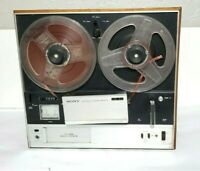 """Vintage Sony TC-355 Stereo 7"""" Reel-To-Reel Tape Recorder Player"""