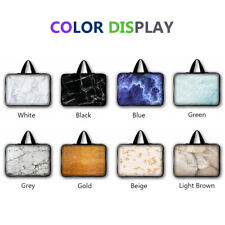 Large Capacity Laptop Bag Marble Grain Sleeve Case Shockproof Notebook Handbag