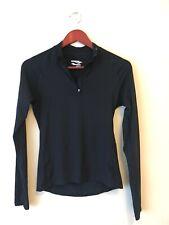 Saucony Women's Activewear - Black Half Zip Running Sweater Top - Size Small