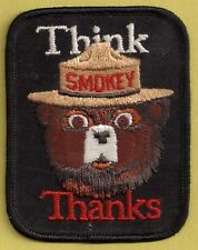 US USFS Forest Service Collectible Think Thanks Smokey Bear Fire Fighting Patch