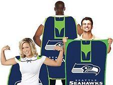 """SEATTLE SEAHAWKS NFL 31.5""""X 47"""" TEAM FAN FLAG CAPE BANNER """"WAVE IT OR WEAR IT"""""""