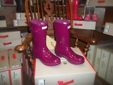 VIOLET GLOSS HUNTER  WELLINGTONS IN HALIFAX SIZE 6 GLOSS SHORT WOMENS LADIES