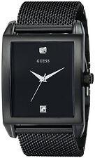 Guess Reloj Black Diamond Crystal Steel Case Mesh Pulsera Bracelet Man Watch Arm