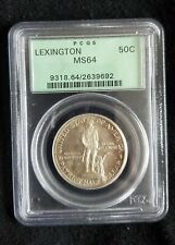 1925 LEXINGTON CONCORD SILVER COMMEMORATIVE 50 CENTS - PCGS MS-64