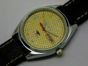 Citizen Automatic Men Steel Movement No 8200 Day Date 21 Jewels Vintage Watch