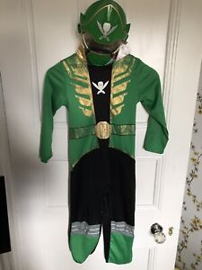 Power Rangers Green Super Megaforce Fancy Dress Up Costume. Age 7-8 With Mask 28
