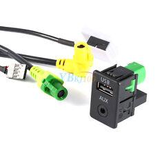 AUX USB Switch 1x RCD510+310+300+RNS315 Cable For VW MK6 Golf Jetta CC PASSAT