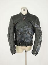 1990s HEIN GERICKE Vintage Leather Camo Armored Motorcycle Jacket Medium M