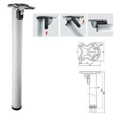1x 870mm Bianco Pieghevole Bar supporto tavolo gamba 50mm di diametro