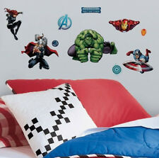 AVENGERS ASSEMBLE wall stickers 28 decals MARVEL Hulk Iron Man Captain America +
