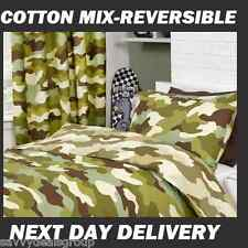 BNWT ARMY CAMOUFLAGE SINGLE DOONA DUVET QUILT COVER SET REVERSIBLE,OZ SELLER