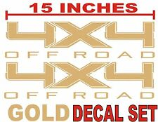 4x4 OFF ROADTruck Bed Decals, GOLD METALLIC (Set) for Ford F-150 & Super Duty