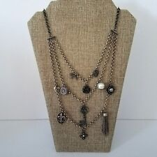Cosplay Mixed Metal Steampunk Bib Necklace /& Earrings Set Welcome to the Machine