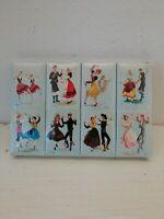 Lot 8 Boîtes Allumettes Vintage Trajes Y Bayles Tipicos De Espana