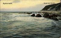 Apenrade Aabenraa Warnitz Varnæs Sogn Dänemark AK ~1910 Strand Beach ungelaufen
