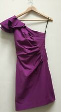 Ladies Warehouse Spotlight Majestic Purple One Shoulder Ruched Dress Size 8