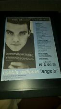 Robbie Williams Angels Rare Original Radio Promo Poster Ad Framed!