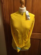 womans ADIDAS running jersey Yellow size 12 NEW WITH TAGS