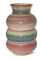 "Vintage Handcrafted Art Pottery Vase Kay Yourist Ceramic signed 8.5"""