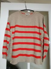 NEW £59 Boden Grace Button relaxed fun Jumper (WV094) striped size S 10 M 12 14
