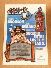 FROM NOON TIL THREE Original WESTERN Movie Poster CHARLES BRONSON JILL IRELAND