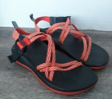 Chaco Red & Black Strappy Sandals Womens Size 4