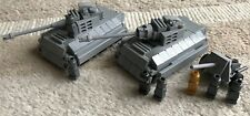 original LEGO PARTS - MICRO - 2 PANTHER TANK 1 CANNON 7 soldiers - my design