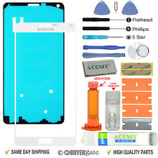White Front Outer Lens Screen Glass Replacement for Samsung Galaxy Note 4 UK