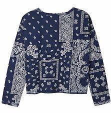 NWT Ralph Lauren little Girls Bandana Printed Sweatshirt XL 16