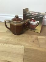 octogon rustic tea pot brown Argyle