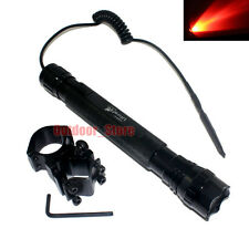 UltraFire 501D CREE Red Light LED 1Mode 150LM Tactical Flashlight + Mount Set