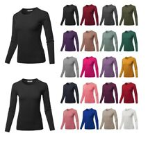 FashionOutfit Women's Long Sleeve Solid Basic Crew Neck Classic Sweater
