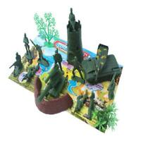 16pcs Plastic Military Playset Toy 5cm Soldiers Army Figures & Accessories