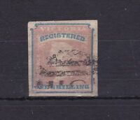 V103) Victoria 1854 1/- Registered stamp SG34, Cat £200, attractive example