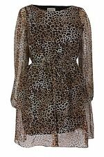 Polyester Animal Print Long Sleeve Tunics, Kaftans for Women