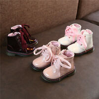 Fashion Winter Kids Zipper Snow Shoes Round Toe Toddler Girls Warm Ankle Boots