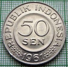 INDONESIA 1961 50 SEN, GARUDA ALUMINIUM UNC