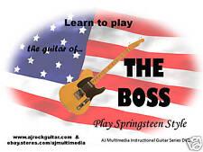 Custom Guitar Lessons, Learn Bruce Springsteen - Dvd Video