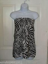 No Boundaries Zebra Print Tube Top Size Small (3/5) Women's NEW
